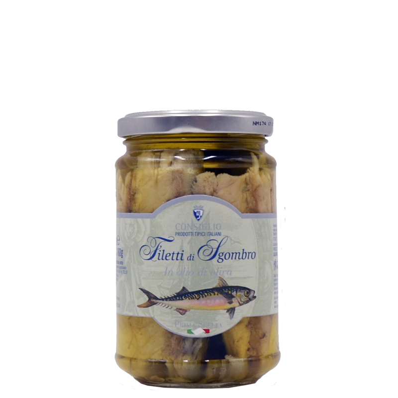 MACKEREL FILLETS IN OLIVE OIL 300 GR