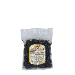 Baked black Cerignola olive in bag