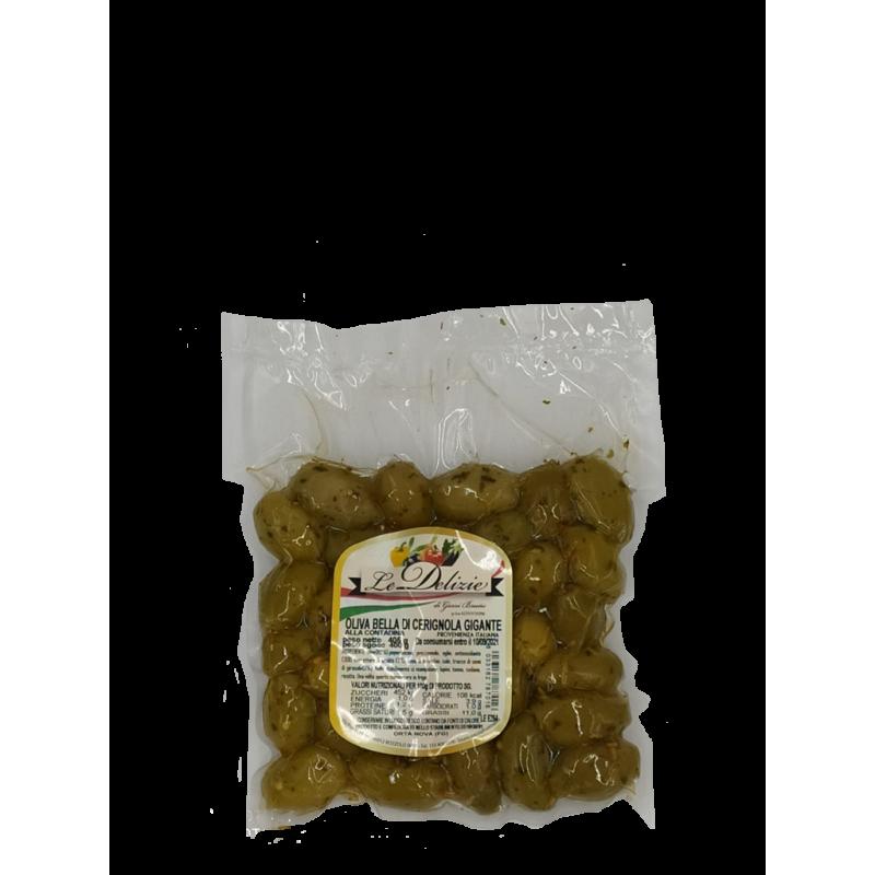 Beautiful Giant Green Cerignola Olive